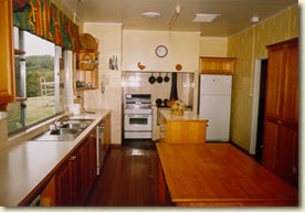 Large country style timber kitchen